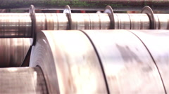 Industry steel, Plate is moving to cut. Stock Footage