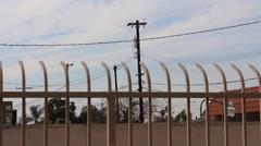 Fence Lines of Neighborhood Stock Footage