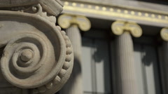 Close-Up Gilded Columns In The Classic Style Stock Footage