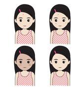 Facial skin problems Stock Illustration