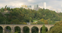 Kirchberg - a quarter in north-eastern Luxembourg City Stock Footage