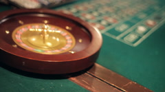Roulette Table Stock Footage