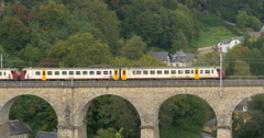 Train in the Grand Duchy of Luxembourg Stock Footage