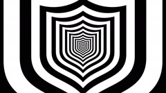 Concentric dashing shield Stock Footage