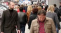 Crowd of people on the street, slow motion 8 Footage