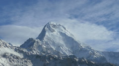 Stock Video Footage of Annapurna south moving clouds