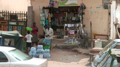 Little grocery store Nigeria - stock footage