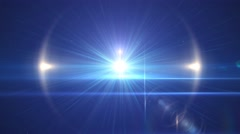 Bright blue star burst abstract background Stock Footage