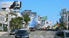 4K, UHD, Sunset Strip on Sunset Boulevard, Los Angeles, California Stock Footage