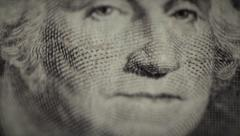 One dollar, macro mode, George Washington Stock Footage