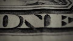 One dollar macro mode Stock Footage