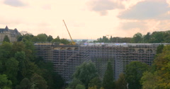Famous bridge in the Grand Duchy of Luxembourg Stock Footage