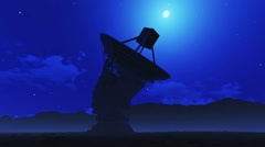 Telescope on a moonlit night Stock Footage