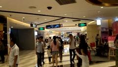 Shenzhen Baoan Xixiang Tian hong shopping plaza landscape Stock Footage