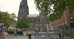 Cologne Cathedral is a Roman Catholic cathedral Stock Footage
