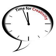 "Bubble clock ""Time for Creativity"" - stock illustration"