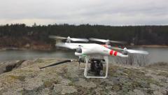 Phantom quadrocopter taking off Stock Footage
