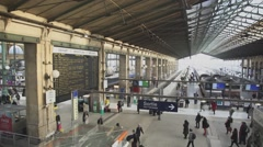 Paris Gare du Nord Stock Footage