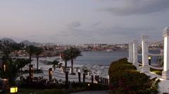 Egypt. Sharm El Sheikh. Hotel territory. Stock Footage