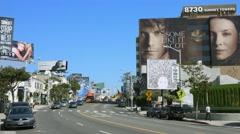 4K, UHD, Sunset Strip on Sunset Boulevard, Los Angeles Stock Footage