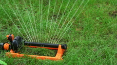 Device for automatic irrigation, close-up - stock footage