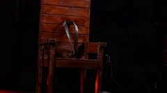 Electric Chair tilt up - stock footage