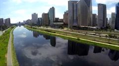 Marginal Pinheiros in Sao Paulo, Brazil Stock Footage