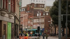 English town centre Stock Footage