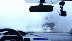 Climate system eliminates fogging of the windshield Stock Footage