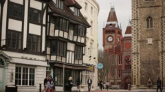 English tudor and victorian architecture (best) Stock Footage