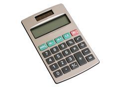 Calculator with a solar battery Stock Photos