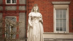 Queen Victoria Statue in England (best) Stock Footage