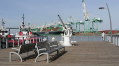 Port of Los Angeles Port o Call Stock Footage