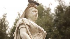 Queen Victoria Statue in England (close up) Stock Footage