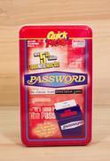 Password game tin - stock photo