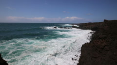 The wild coast of Lanzarote - Canary Islands Stock Footage