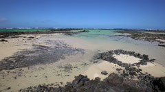 Orzola beach in Lanzarote, Canary islands, Spain Stock Footage