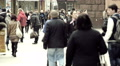 Crowd of people on the street, slow motion 4 Footage