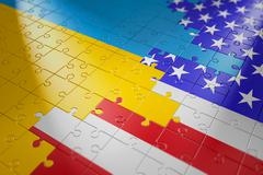 Puzzles in the form of flags Stock Illustration