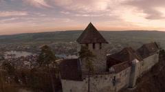 Castle Stein am Rhein, Burg Hohenklingen Stock Footage