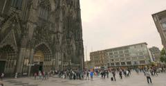 Cologne Cathedral is a Roman Catholic cathedral in Cologne Stock Footage