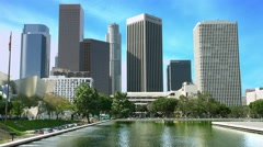 4K, UHD, Los Angeles Downtown Skyline, California, BlackMagic Production Camera Stock Footage