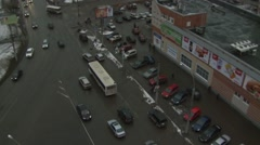 View of the main line from above. Stock Footage
