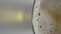 Glass of cold beer. 4K UHD Stock Footage