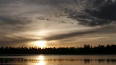 4K Sun and Clouds over Marshall Lake Stock Footage