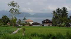 Village,Lake Maninjau,Sumatra,Indonesia Stock Footage