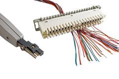 Telephone switchboard panel Stock Photos