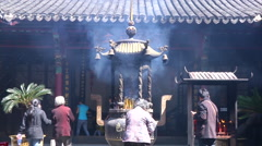 Incense burner in Lord Bao Temple, Hefei, China Stock Footage