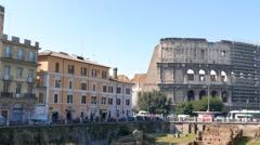 Ludus Magnus. Rome, Italy. 1280x720 Stock Footage