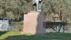 Alfredo Oriani Monument, Rome, Italy. 4K Stock Footage